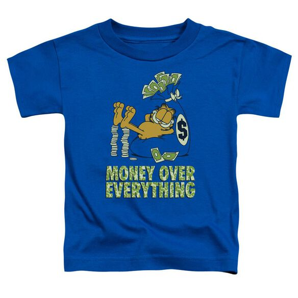 GARFIELD MONEY IS EVERYTHING - S/S TODDLER TEE - ROYAL BLUE - T-Shirt