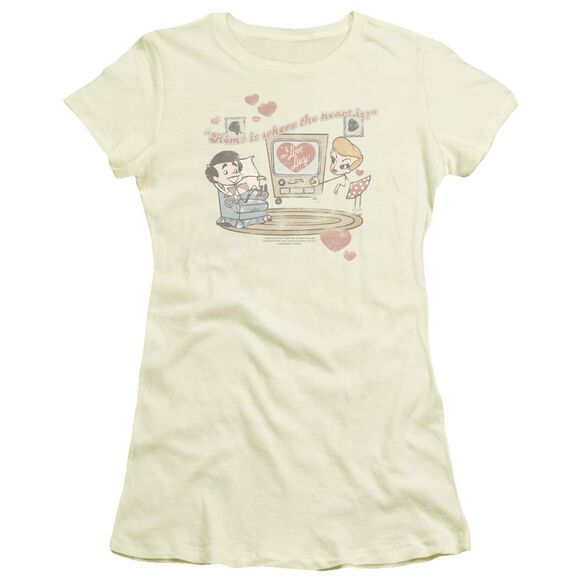 I Love Lucy Home Is Where The Heart Is Short Sleeve Junior Sheer T-Shirt