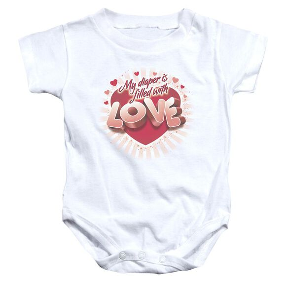 Filled With Love Infant Snapsuit White Md