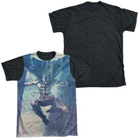 Batman Skyscrapers Short Sleeve Adult Front Black Back T-Shirt