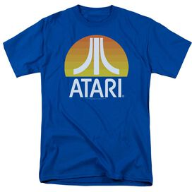 Atari Sunrise Clean Short Sleeve Adult Royal T-Shirt