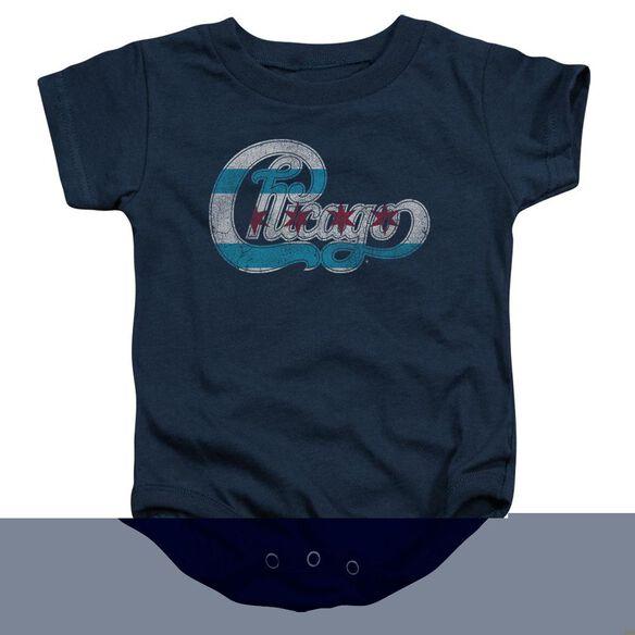 Chicago Flag Logo Infant Snapsuit Navy
