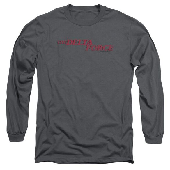 Delta Force Distressed Logo Long Sleeve Adult T-Shirt