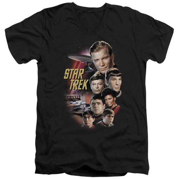 St Original The Classic Crew Short Sleeve Adult V Neck T-Shirt