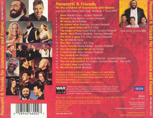 Pavarotti & Friends Gu999