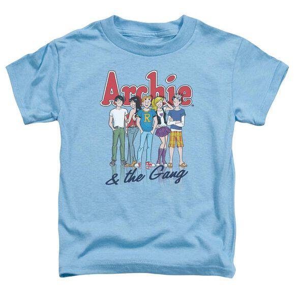 Archie Comics And The Gang Short Sleeve Toddler Tee Carolina Blue Sm T-Shirt