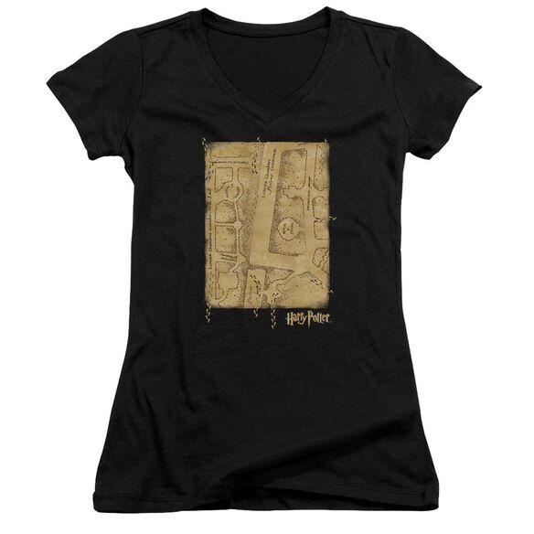 Harry Potter Marauders Map Interior Junior V Neck T-Shirt