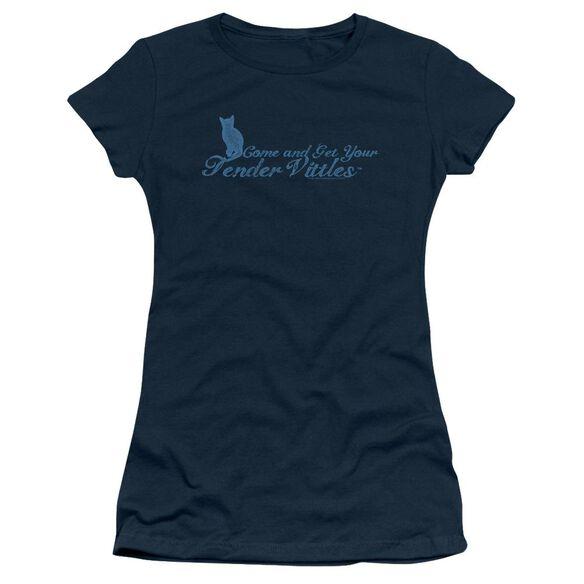 Tender Vittles Come And Get Em Short Sleeve Junior Sheer T-Shirt