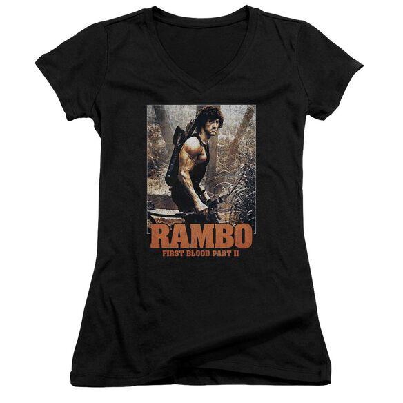 Rambo:First Blood Ii The Hunt Junior V Neck T-Shirt