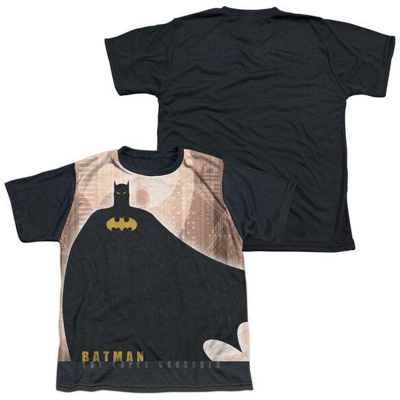 Batman City Crusader Short Sleeve Youth Front Black Back T-Shirt