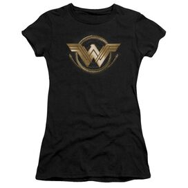 Wonder Woman Movie Lasso Logo Short Sleeve Junior Sheer T-Shirt