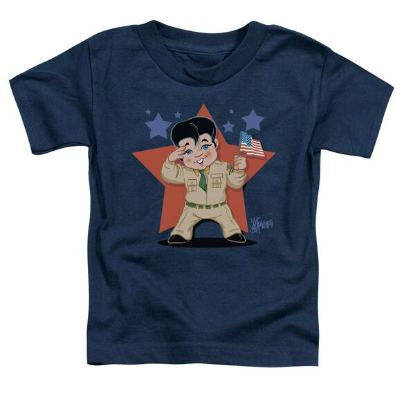 Elvis Lil G I Short Sleeve Toddler Tee Navy Md T-Shirt