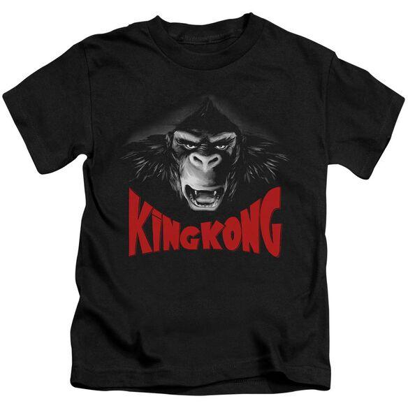 King Kong Kong Face Short Sleeve Juvenile Black T-Shirt