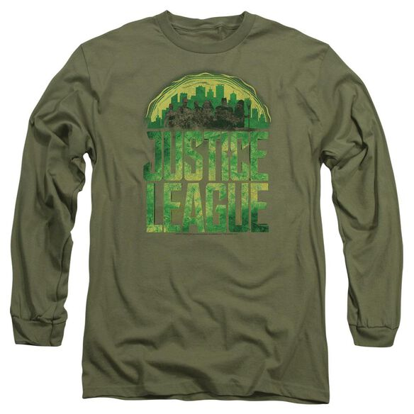 Justice League Movie Kryptonite Long Sleeve Adult Military T-Shirt
