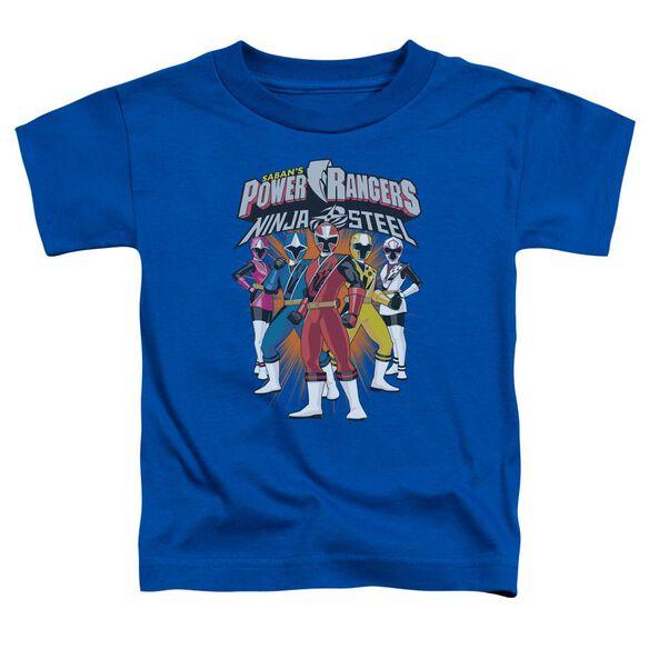 Power Rangers Team Lineup Short Sleeve Toddler Tee Royal Blue T-Shirt