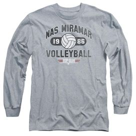 TOP GUN NAS MIRAMAR VOLLEYBALL - L/S ADULT 18/1 - ATHLETIC HEATHER T-Shirt