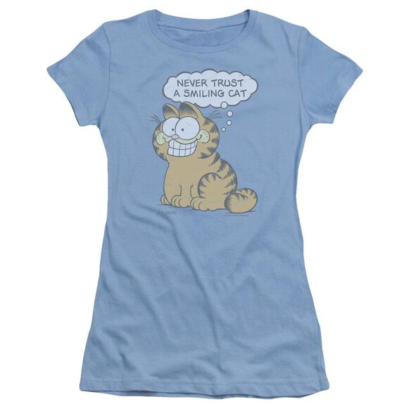 Garfield Smiling Cat Short Sleeve Junior Sheer Carolina T-Shirt