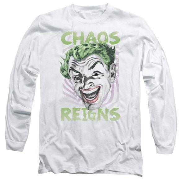 Batman Classic Tv Chaos Reigns Long Sleeve Adult T-Shirt