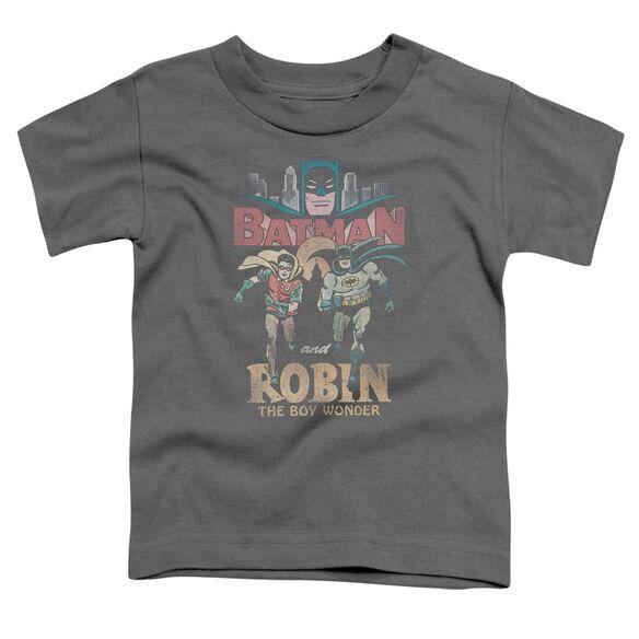 Batman Classic Tv Classic Duo Short Sleeve Toddler Tee Charcoal T-Shirt