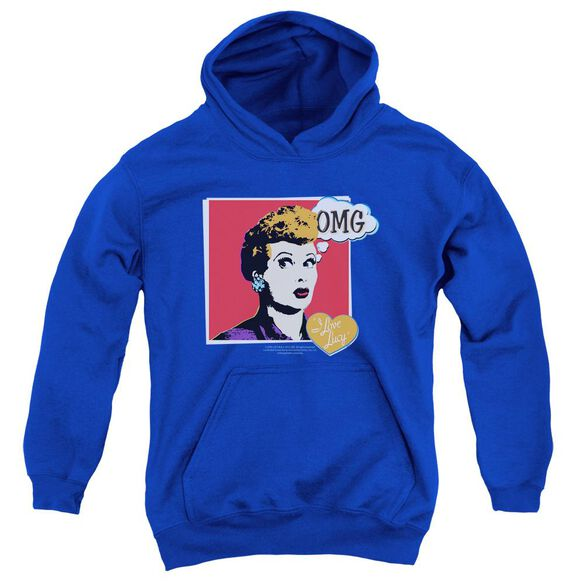 I Love Lucy I Love Worhol Omg Youth Pull Over Hoodie Royal