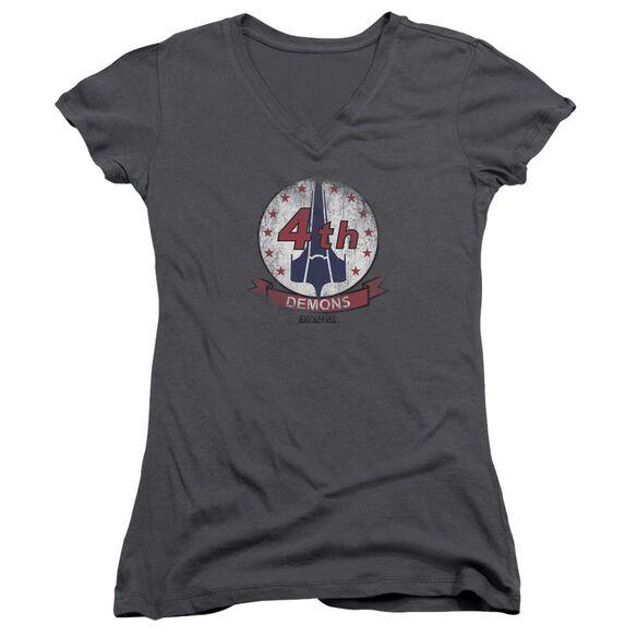 Bsg Demons Badge Junior V Neck T-Shirt