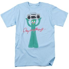 Gumby Clay Anything Short Sleeve Adult Light Blue T-Shirt