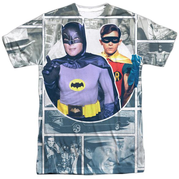 Batman Classic Tv 60 S Panels Short Sleeve Adult Poly Crew T-Shirt