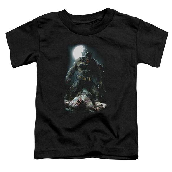Batman Mudhole Short Sleeve Toddler Tee Black T-Shirt