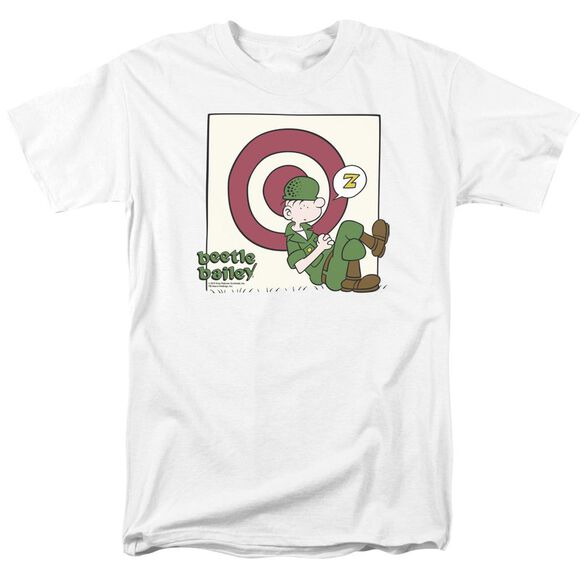 Beetle Bailey Target Nap Short Sleeve Adult White T-Shirt