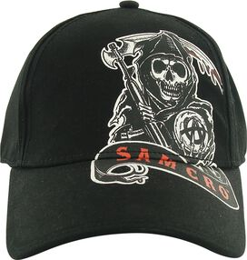 Sons of Anarchy Side Reaper Print Flex Hat