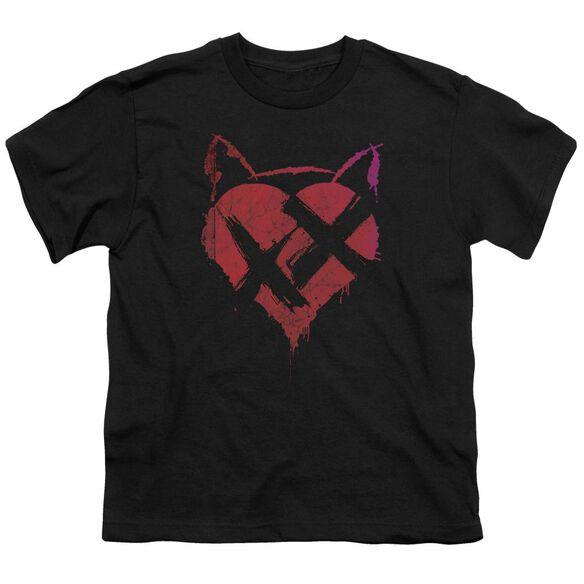 Dark Knight Rises No Heart Short Sleeve Youth T-Shirt