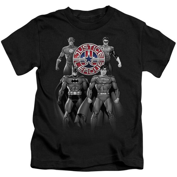 Jla Shades Of Gray Short Sleeve Juvenile Black Md T-Shirt