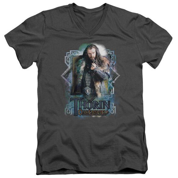 The Hobbit Thorin Oakenshield Short Sleeve Adult V Neck T-Shirt