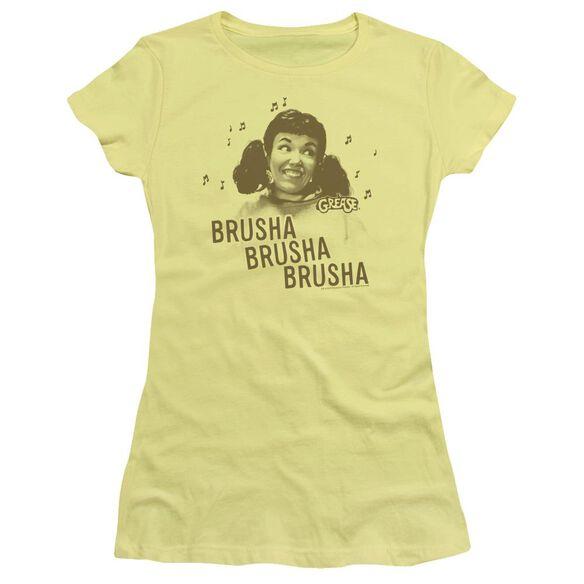 Grease Brusha Brusha Brusha Short Sleeve Junior Sheer T-Shirt