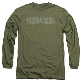 Falling Skies Distressed Logo Long Sleeve Adult Military T-Shirt