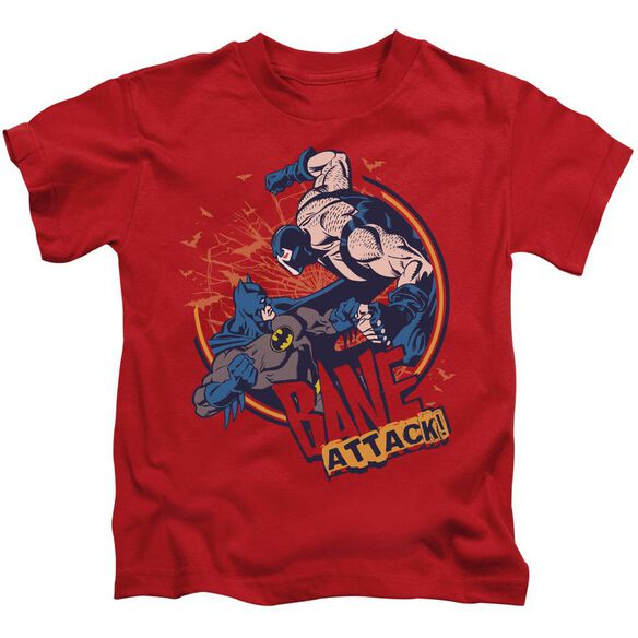 Batman Bane Attack! Short Sleeve Juvenile Red T-Shirt
