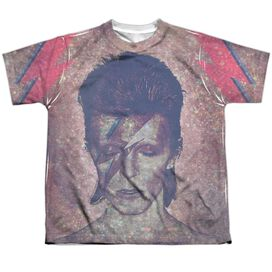 David Bowie Glam Short Sleeve Youth Poly Crew T-Shirt