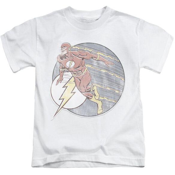 Dco Retro Flash Iron On Short Sleeve Juvenile White T-Shirt