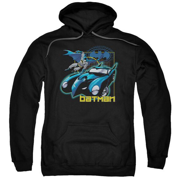 Batman Nice Wheels Adult Pull Over Hoodie