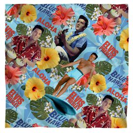 Elvis Blue Hawaii Bandana White