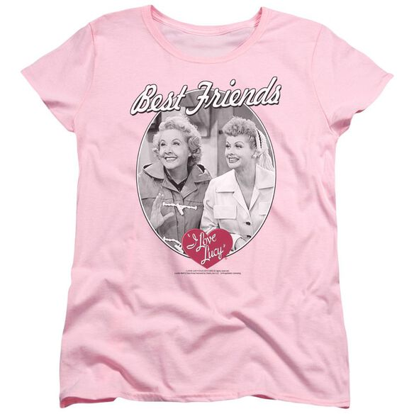 I Love Lucy Best Friends Short Sleeve Womens Tee T-Shirt