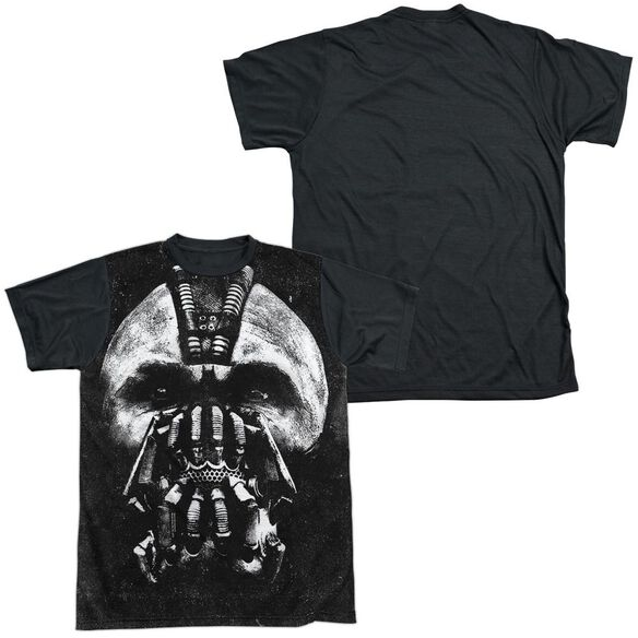 Dark Knight Rises Big Bane Head Short Sleeve Adult Front Black Back T-Shirt