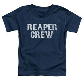 Sons Of Anarchy Reaper Crew Short Sleeve Toddler Tee Navy T-Shirt