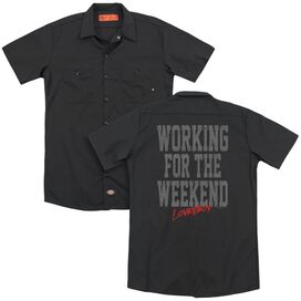 Loverboy Working (Back Print) Adult Work Shirt
