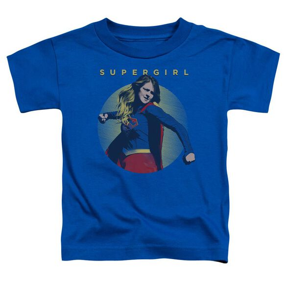 Supergirl Classic Hero Short Sleeve Toddler Tee Royal Blue T-Shirt