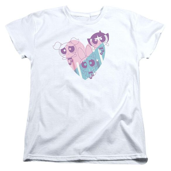 Powerpuff Girls Powerpuff Heart Short Sleeve Womens Tee T-Shirt