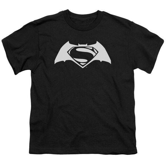 Batman V Superman Simple Logo Short Sleeve Youth T-Shirt