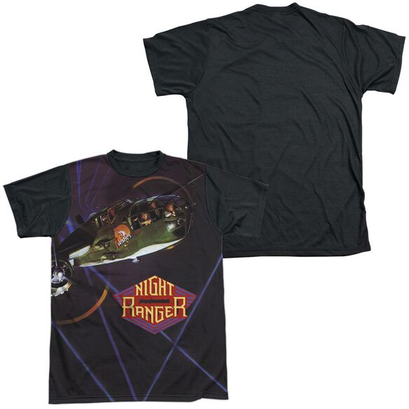Night Ranger 7 Wishes Short Sleeve Adult Front Black Back T-Shirt