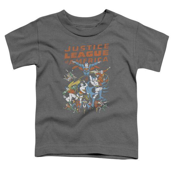 Jla Big Group Short Sleeve Toddler Tee Charcoal Sm T-Shirt