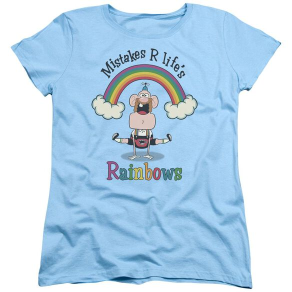 Uncle Grandpa Lifes Rainbows Short Sleeve Womens Tee Light T-Shirt